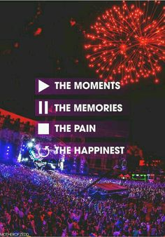 Play the moments Pause the memories Stop the pain Replay the happiness Music Love, Music Is Life, Good Music, Festival Quotes, Edm Festival, Festival Party, Edm Quotes, Music Quotes, Life Quotes