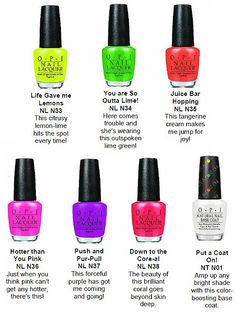 OPI neons - I need these in my life ! Right now !