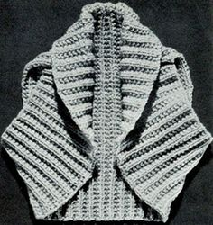 Hug-Me-Tight Shrug - free vintage knit pattern