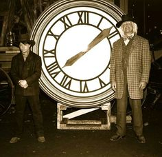 This is one of the original Doc Brown burnt clocktower photos from the end of Back to the Future Part This is what Marty pulled out of the DeLorean wreckage before Doc returned in the time travelling train. Back To The Future Party, The Future Movie, Back To The Future Tattoo, Doc Brown, Ghost Whisperer, Atticus Finch, Will Ferrell, Buffy The Vampire Slayer, Movie Props