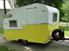 Restoring a Vintage Travel Trailer.  See the DIY paint tutorial.