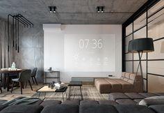 Contemporary Interior Design, Office Interior Design, Home Office Decor, Modern House Design, Modern Interior Design, Interior Design Living Room, Living Room Designs, Office Ideas, Living Room Grey