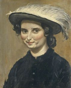 Augustus Edwin John - Dorelia McNeill in a Feathered Hat