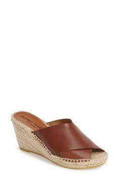 575feae9188 Bettye Muller  Dijon  Leather Wedge Espadrille Slide Sandal (Women)