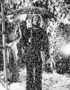 Stanley Kubrick on the set of The Shining (1980)