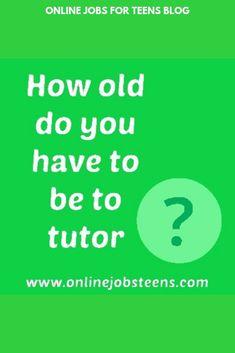 40 Tutoring Jobs For Teens Ideas Tutoring Jobs Online Tutoring Online Tutoring Jobs