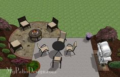 Simply and affordably add a fire pit area or large round dining area to your existing patio with the The DIY Stone Circle Patio Design. Layout & material list.