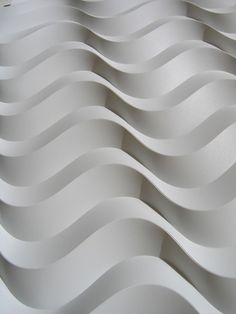 curved offset 05 by polyscene, via Flickr - Just scored and folded paper, no cuts, no glue