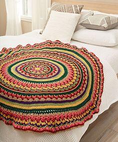 Ravelry: Circular Fall Mandala Throw pattern by Lisa Gentry