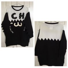 ASOS chocoolate sweatshirt xs worn twice,the sleeves are very cute,back has a very light yellow stain,please refer to the last pic,NO TRADE ASOS Tops Sweatshirts & Hoodies