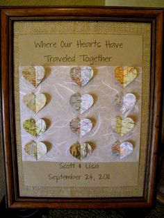 ADORABLE wedding gift!!...where they met, got engaged, made special memories, etc.!!
