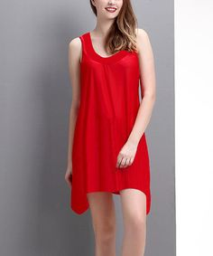 Another great find on #zulily! Red Racerback Sidetail Tunic - Women by Reborn Collection #zulilyfinds
