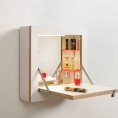 Fläpps Schminktänk Vanity Cabinet – White (with lighting) – OOSTOR.com