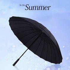 e3f764ee0a7e4 Umbrella Long Handle Umbrella Male Female cm Large umbrella Windmills  Waterproof sun and rain. Feature  large