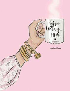 Give – Coffee Art – Coffee Lovers quotes – Spring Art – Cherry Blossoms – Coffee Art – Heather Stillufsen – Famous Last Words Illustration Mode, Illustrations, Positive Thoughts, Positive Quotes, Rose Hill Designs, Spring Art, Coffee Art, Morning Quotes, Woman Quotes