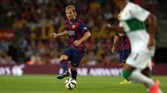 Rakitic. FC Barcelona - Elx (3-0)   FC Barcelona