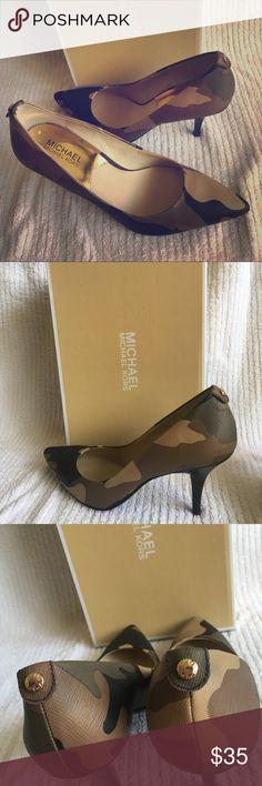 Michael Kors Camo pumps Beautiful Michael Kors camouflage pumps.  Never worn. MICHAEL Michael Kors Shoes Heels