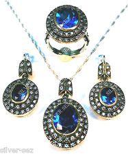 925 silver set hurrem roxelana sultan aquamarine color Хюррем Султан серебра sez