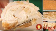 Famózna banánovo-karamelová roláda bez múky Mashed Potatoes, Cheese, Ethnic Recipes, Desserts, Food, Whipped Potatoes, Tailgate Desserts, Deserts, Smash Potatoes