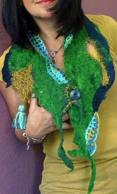 Filzschals - Filzkragen - ein Designerstück von kraft-kreativ bei DaWanda