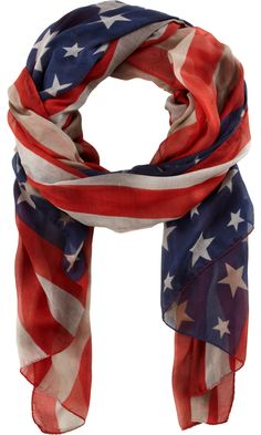 Roda Painted American Flag Scarf