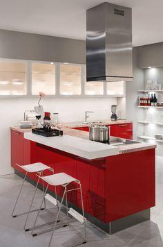 Hier Geht Es Feurig Zu: Eine Rote Designküche Zum Verlieben!