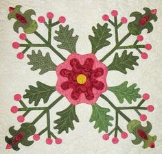 Barbara Brackman's MATERIAL CULTURE: Emporia Quilts: Charlotte Jane Whitehill's Tomato Flower
