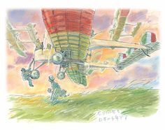 Concept art for The Wind Rises (Miyazaki, Don't forget to also check out New In Cinema's ranking of Studio Ghibli's movies from worst to best by clicking through to our site. Hayao Miyazaki, Illustrations, Illustration Art, Studio Ghibli Films, Le Vent Se Leve, Wind Rises, Film Anime, Concept Draw, Castle In The Sky