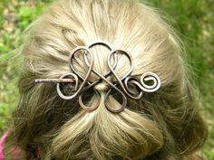 Copper Hair Clip, Hair Slide, Hair Stick, Unique Accessories, Metal Hair Pins, Hair Clips, Gift For Her, Bridesmaids Hair, Hair Accessories on Etsy, $18.50