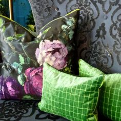 Scandinavian Cottage, Designers Guild, Rustic Design, Boho Chic, Throw Pillows, Fabric, Modern, Artwork, Color