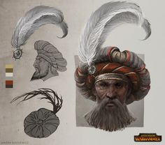 Total War: Warhammer Concept Art - Empire Noble Hat, Sandra Duchiewicz on ArtStation at https://www.artstation.com/artwork/nvZEr