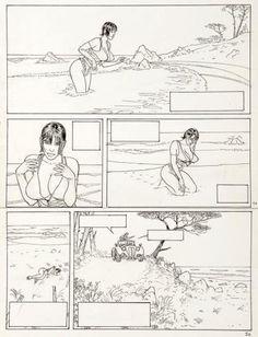 GIBRAT    Pinocchia-inkt uit China voor plaat 41 van het album. 39 x 29 cm. Écho des savanes - Albin Michel 1995  - W.B.