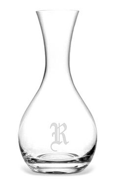 R for Roberta-Monogrammed Wine Carafe Craft Logo, Pouring Wine, Wine Carafe, Wine And Spirits, Wrapping, Barware, Monogram, Gift Ideas, Drink