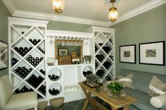 Lovely wine storage for those who possibly can't have a wine cellar