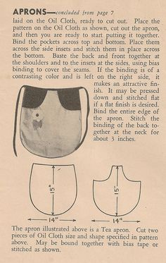 Sentimental Baby: Free Apron Patterns ~ Incorporate this pocket into my current apron pattern for carrying produce.