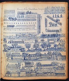 A collection of Civil War ledgers from William B. Stark of Egremont, Mass., estimated at $ 10/15,000, sold for $ 28,440. The lot included three ledgers with drawings of the war, battle and camp drawings, as well as letters relaying battle information.