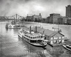 Monongahela Wharf, 1910. 17 Vintage Photos of the Steel City of Old - The 412 - January 2014