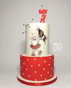 Tão apaixonada por este bolo via Pinterest, por Dort Um. ❤️❤️❤️❤️❤️❤️. #ideiasdebolosefestas #bololindo