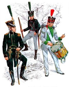 • Premier Lieutenant, Saxon Light Infantry, 1810-1813  • Jäger, 1810-1813  • Musketeer drummer, Inf. Regt. 'Prinz Friedrich August', 1810-1813
