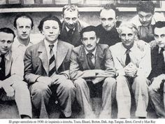 surrealists in 1930 ( Man Ray, Salvador Dali,Paul Éluard, André Breton, Max…