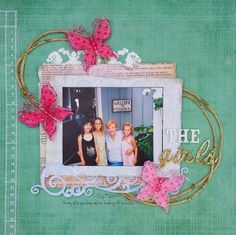 When I saw the Colour Challenge at Kreative Koncepts (formerly ScrapFriends) I knew I wanted to play along. Scrapbook Layouts, Scrapbook Pages, Scrapbooking, Heidi Swapp, Wedding Album, Pattern Paper, Homemade Cards, Stencils, Challenges