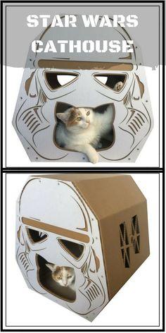 StarWars Imperial Stormtrooper Cardboard Cat House,Cat Furniture,Cat  Toy,Cat Bed,