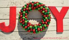 How to make a Joy wreath and sign