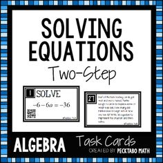 Complex fractions school pinterest math algebra and math memes solving two step equations task cards with qr codes fandeluxe Images