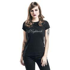 """Maglietta donna a maniche corte """"Silver Logo"""" dei #Nightwish."""
