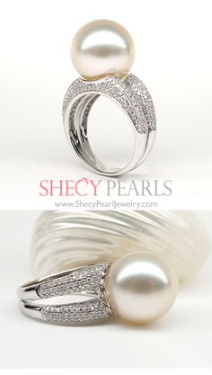 Whether you are looking for a vintage and unique pearl jewelry within your budget? Pearl Rings, Pearl Jewelry, Gemstone Jewelry, Girls Best Friend, Wedding Rings, Engagement Rings, Sea, Jewels, Gemstones