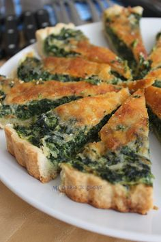 111 Different Vegetable Dishes Ideas - Food Keto Quiche, Quiche Recipes, Spinach Recipes, Veggie Recipes, Vegetarian Recipes, Cooking Recipes, Healthy Recipes, Quiches, Food Porn