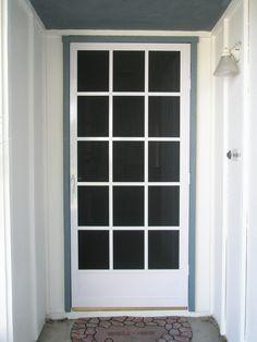 1000 images about screen doors on pinterest storm doors for Back door with window and screen