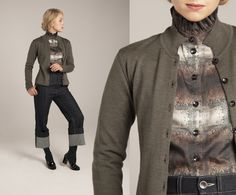 from the Norwegian designer Mette Møller Military Jacket, Winter, Jackets, Design, Fashion, Winter Time, Down Jackets, Moda, Field Jacket