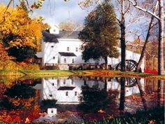 The 1847 historical mill at Wolcott Mill Metropark offers a glimpse of bygone times through its complete grain grinding machinery, exhibits,...